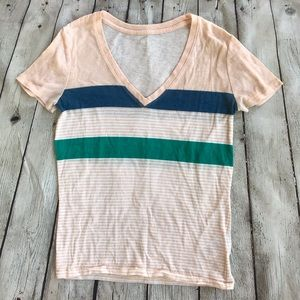 BDG Pink Striped T-shirt